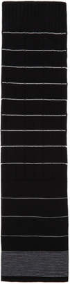 McQ Black Pin Stripe Scarf