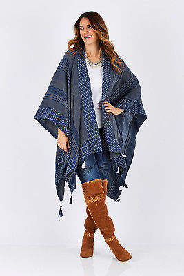 Talisman Designs NEW Womens Ponchos Hinterland Cape Size OneSize Riverside