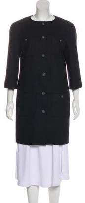 Chanel Mesh Semi-Sheer Coat
