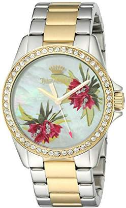 Juicy Couture Women's Laguna Quartz Silver and Gold and Stainless Steel Casual Watch, Color:Two Tone (Model: 1901425) $275 thestylecure.com
