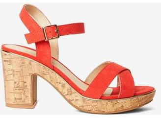 Dorothy Perkins Womens Wide Fit Coral 'Romy' Sandals