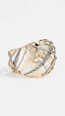 Alexis Bittar Crystal Encrusted Medium Plaid Cuff