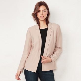 Lauren Conrad Women's Relaxed Open-Front Blazer