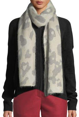 Rag & Bone Leopard-Print Mohair Rectangle Scarf