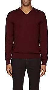 Cifonelli Men's V-Neck Wool Sweater - Wine