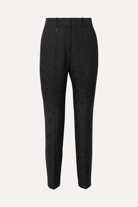 Equipment Tabitha Simmons Warsaw Jacquard Tapered Pants - Black