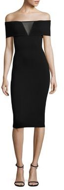 Bailey 44 Esther Heavy Jersey Off-the-Shoulder Dress $168 thestylecure.com