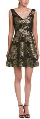 Karen Millen Floral Jacquard Fit-And-Flare Dress