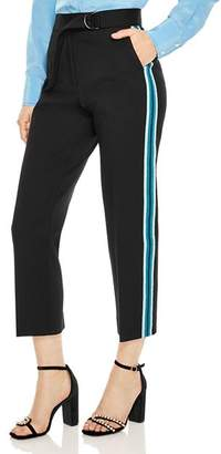 Sandro Cosmos Cropped Racing Stripe Pants