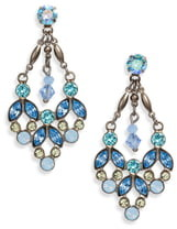 Sorrelli Floral Crystal Statement Earrings