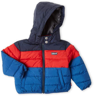 Levi's Infant Boys) Chance Stripe Puffer Jacket