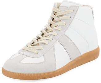 Maison Margiela Men's Replica Mid-Top Leather & Suede Sneakers