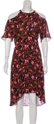 A.L.C. Floral Print Midi Dress