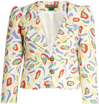 DURO OLOWU Abstract bird-print cloqué jacket