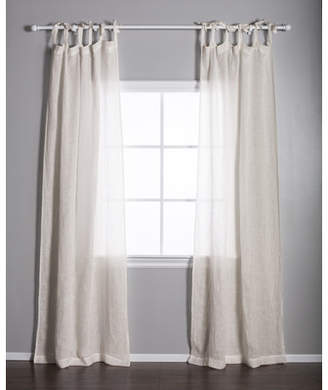 Pom Pom at Home Voile Solid Sheer Tap Top Single Curtain Panel