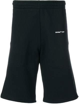 Off-White logo jogging shorts