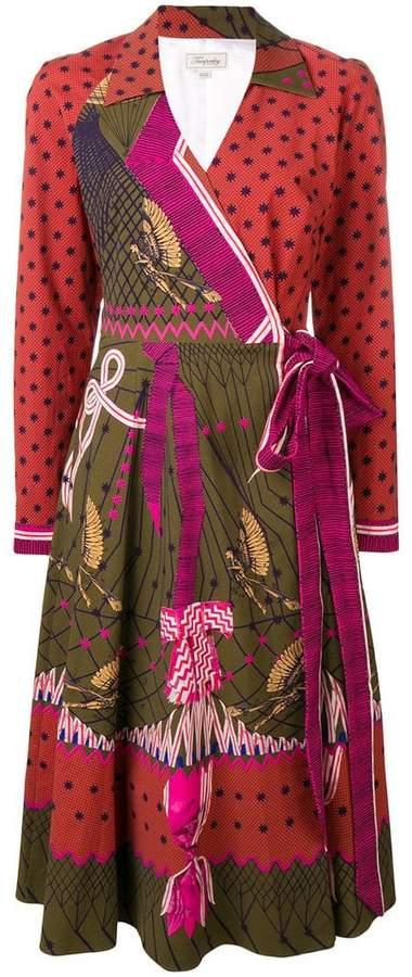 Aerial printed dress