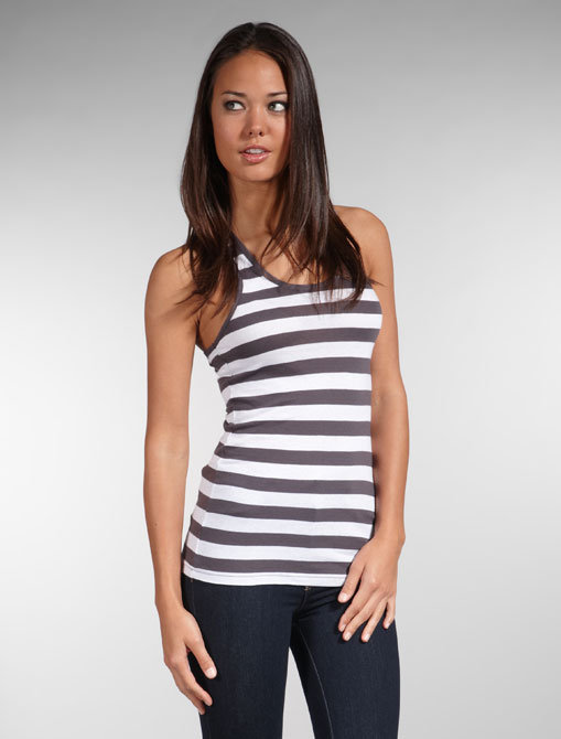 Bobi Stripe Light Weight Jersey Tank