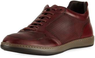 Giorgio Armani Men's Napier Textured Leather Trainer Sneakers
