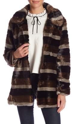 Molly Bracken Faux Fur Long Sleeve Coat
