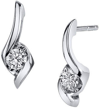 Sirena 1/4 CT. T.W. Round Diamond 14K White Gold Earrings