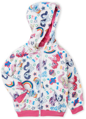 My Little Pony Girls 4-6x) Printed Plush Zip Hoodie