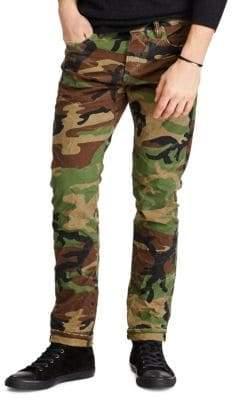Ralph Lauren Sullivan Archer Camo Slim Stretch Jeans