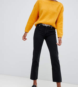 Monki Mokonok mid waist straight leg jeans with organic cotton in black
