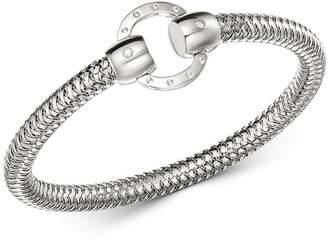 Roberto Coin 18K White Gold Primavera Diamond Circle Stretch Bangle Bracelet