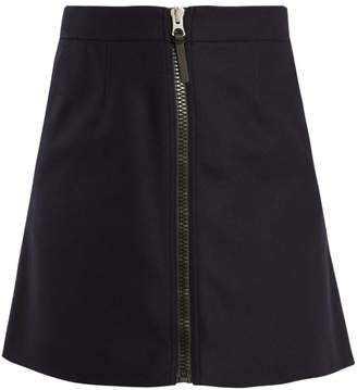Acne Studios Suraya zip-fastening wool mini skirt
