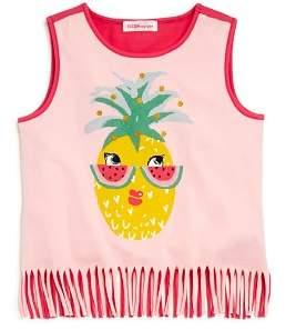 Design History Girls' Fringed Pineapple Tank - Little Kid