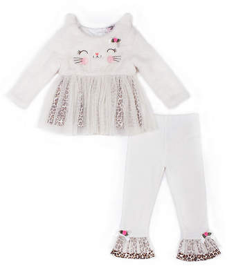 Little Lass 2-pc.Leopard Legging Set-Baby Girls