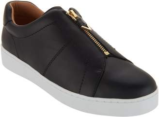 Vionic Leather Slip-On Shoes with Zipper - Ellis