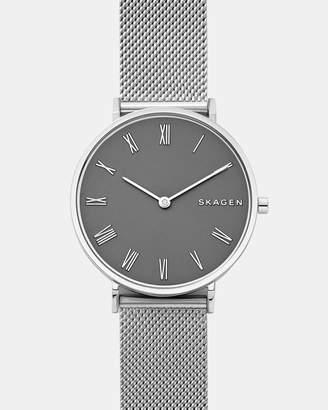 Skagen Slim Hald Silver-Tone Analogue Watch