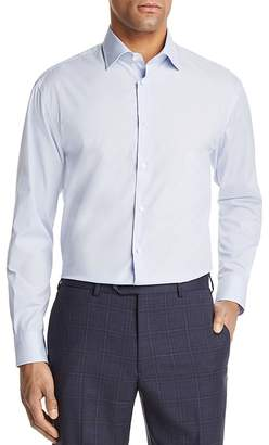 Emporio Armani Dotted Pinstripe Regular Fit Button-Down Shirt
