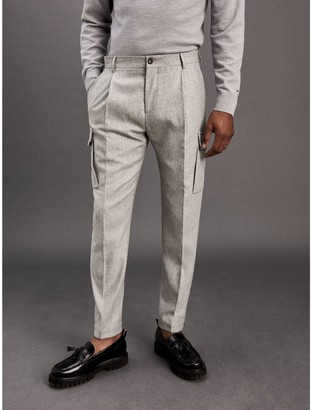 Tommy Hilfiger Relaxed Fit Wool Trousers