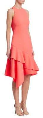 Theia Women's Sleeveless Asymmetric Dress - Peach - Size 4