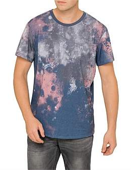 R & E RE: Marbled Splotch Print T-Shirt