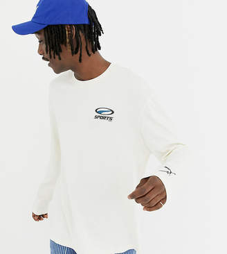Puma organic cotton long sleeve top in white Exclusive at ASOS