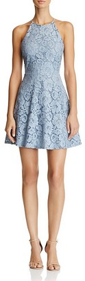 AQUA Lace High Neck Dress - 100% Exclusive $78 thestylecure.com