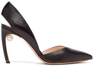 Nicholas Kirkwood Mira Pearl Heel Leather Pumps - Womens - Black