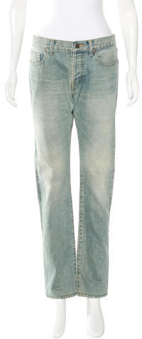 Saint LaurentSaint Laurent Mid-Rise Straight-Leg Jeans