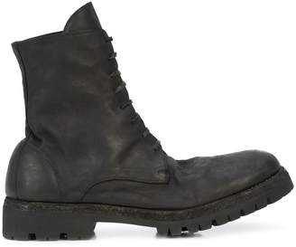 Guidi rubber sole lace-up ankle boot