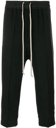 Rick Owens drop-crotch hybrid trousers