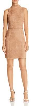 Aqua Scalloped Faux Suede Sheath Dress - 100% Exclusive