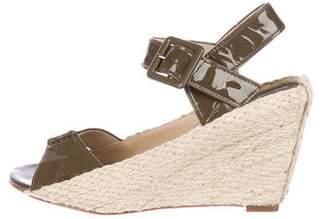 Diane von Furstenberg Patent Leather Wedge Sandals