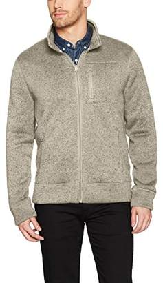 Lucky Brand Men's Shearless Fleece Full Zip Mock Neck Sweatshirt