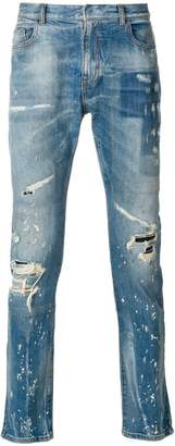 Faith Connexion paint splatter jeans