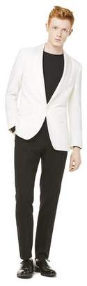 Todd Snyder Black Label Sutton Shawl Collar Tuxedo Jacket in Ivory Italian Wool