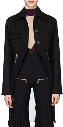 Chloé Women's Chiffon-Hem Wool-Blend Jacket